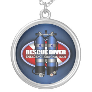 Rescue Diver (ST) Silver Plated Necklace