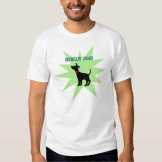Rescue Dog Adapt Black Shelter Dog Pet T-shirt