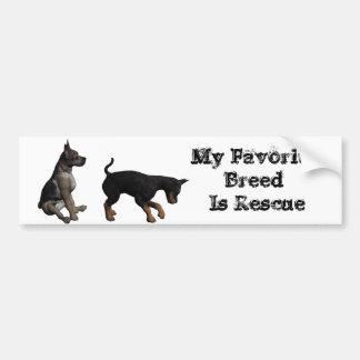 Rescue dog bumper sticker
