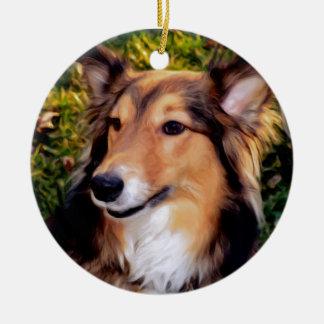 Rescue Dog Ceramic Ornament