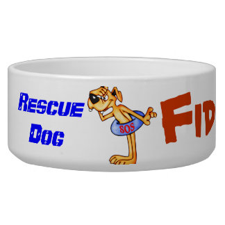 Rescue Dog Customized Dog Bowls