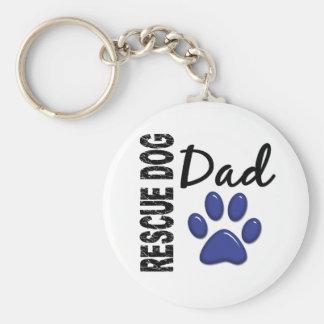 Rescue Dog Dad 2 Keychain