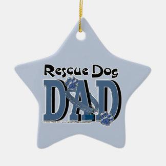 Rescue Dog DAD Ceramic Ornament