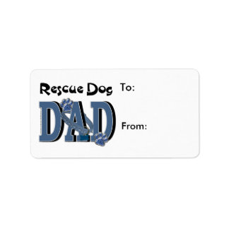 Rescue Dog DAD Label