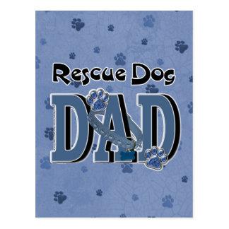 Rescue Dog DAD Postcard