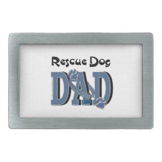 Rescue Dog DAD Rectangular Belt Buckle