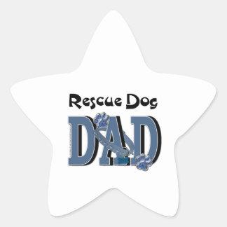 Rescue Dog DAD Star Sticker