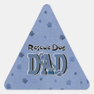 Rescue Dog DAD Triangle Sticker