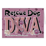 Rescue Dog DIVA Greeting Cards