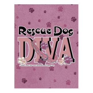 Rescue Dog DIVA Postcard