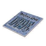 Rescue Dog DUDE Ceramic Tile