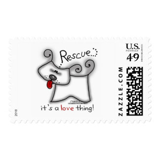 Rescue Dog ... It's A Love Thing Postage