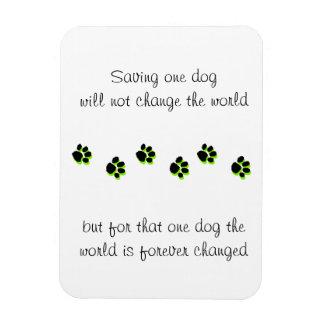 Rescue Dog Magnet, Saving One Life Rectangular Photo Magnet