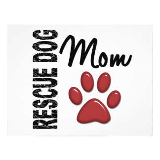 Rescue Dog Mom 2 Custom Flyer