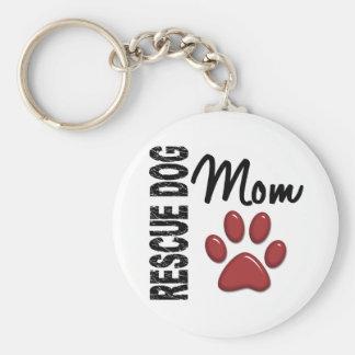Rescue Dog Mom 2 Keychain