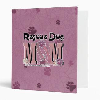 Rescue Dog MOM 3 Ring Binder