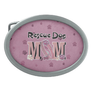 Rescue Dog MOM Belt Buckle