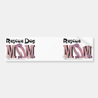 Rescue Dog MOM Car Bumper Sticker