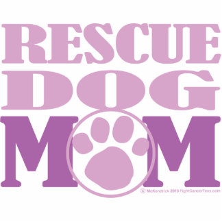 Rescue Dog Mom Cutout