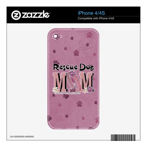 Rescue Dog MOM Decals For The iPhone 4S
