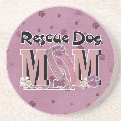 Rescue Dog MOM Drink Coasters