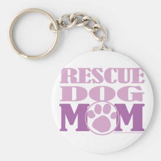 Rescue Dog Mom Keychain