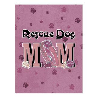 Rescue Dog MOM Postcard