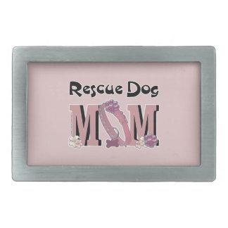 Rescue Dog MOM Rectangular Belt Buckle