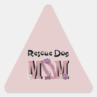 Rescue Dog MOM Triangle Sticker