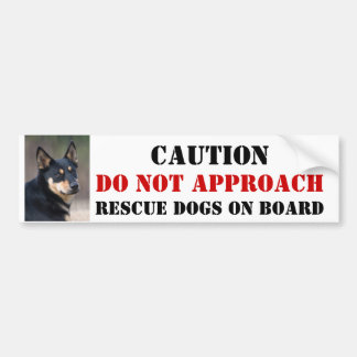 Rescue Dog On Board Bumper Sticker