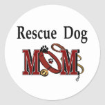 Rescue Dog Owners Gifts Round Sticker