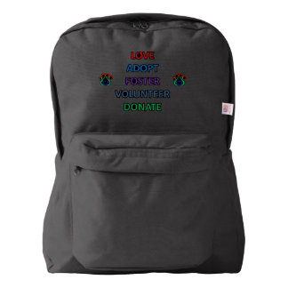 Rescue Dog Paw Print Backpack