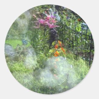 Rescue Dog Reflection Garden Havanese Classic Round Sticker