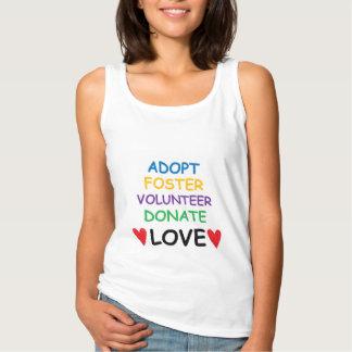 Rescue Dog Tank T-shirt Adopt Volunteer Love