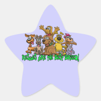 Rescue Dogs are the best Breed Star Sticker