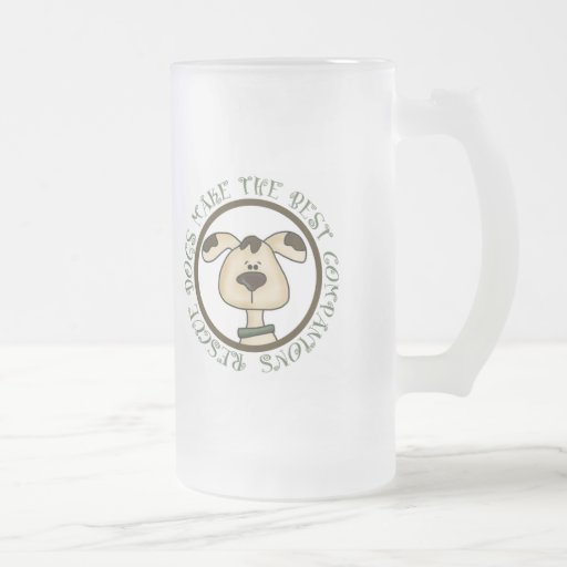Rescue Dogs Make The Best Companions Frosted Mug