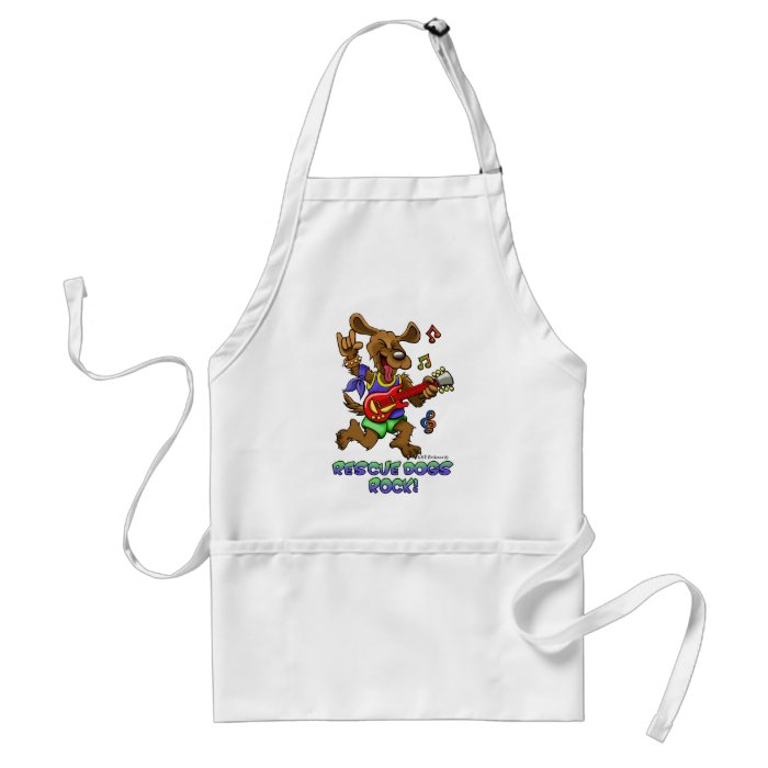 RESCUE DOGS ROCK ADULT APRON