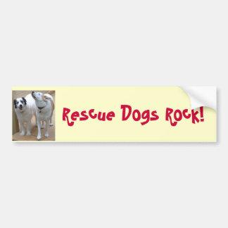 Rescue Dogs Rock! Bumper Sticker