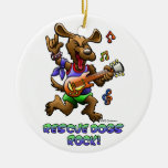 RESCUE DOGS ROCK CHRISTMAS TREE ORNAMENTS