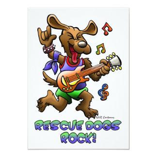 RESCUE DOGS ROCK! PERSONALIZED INVITES