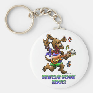 RESCUE DOGS ROCK! KEYCHAIN