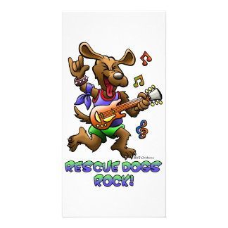 RESCUE DOGS ROCK!! CUSTOMIZED PHOTO CARD