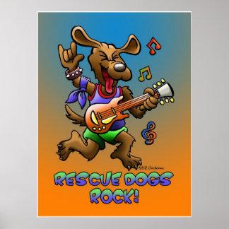 RESCUE DOGS ROCK! PRINT