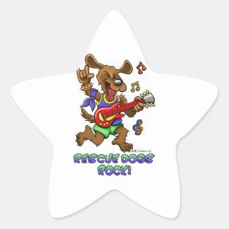 RESCUE DOGS ROCK STAR STICKER