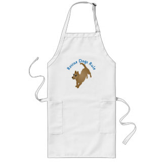 Rescue Dogs Rule v2 Long Apron