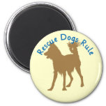Rescue Dogs Rule v3 2 Inch Round Magnet