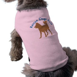 Rescue Dogs Rule v3 Dog Tee Shirt