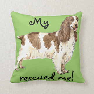 Rescue English Cocker Spaniel Throw Pillow