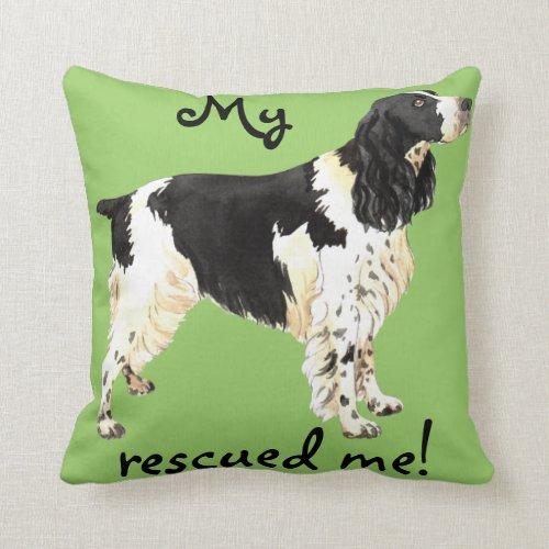 Rescue English Springer Spaniel Throw Pillow