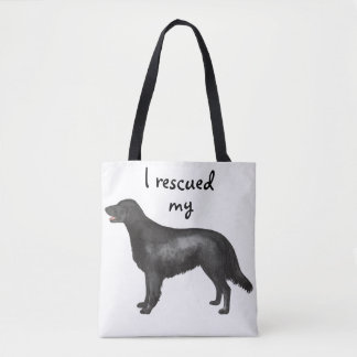 Rescue Flat-Coated Retriever Tote Bag
